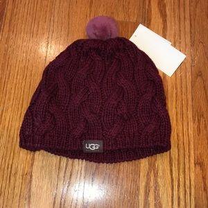 NWT UGG knit Pom Pom hat